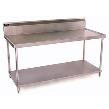Aero 1 TSB Series Stainless Steel Work Table w/ Backsplash