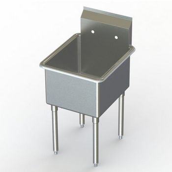 Aero NSF Single Bowl Deluxe Sinks, No Drainboard