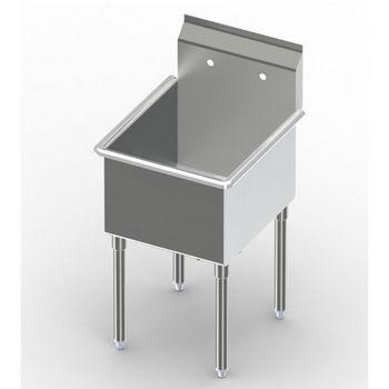 Aero Non-NSF Single Bowl Deluxe Sinks, No Drainboard