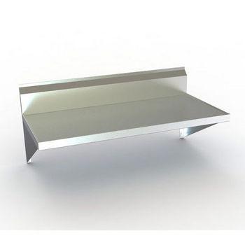 Aero TWMV Series Wall-Mounted Table w/ Backsplash & Marine Edge