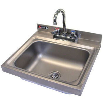 Aero stainless steel drop in sink with faucet and safety edges