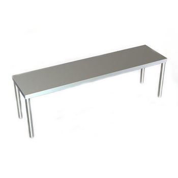 "Aero 12"" Wide O Series Single Overshelf - Table Mounted"