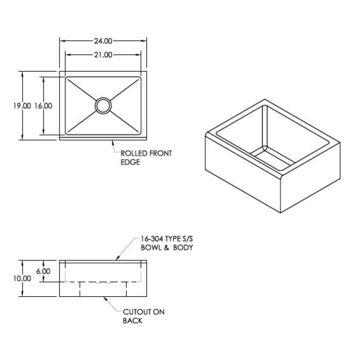 Aero floor-mounted stainless steel mop sink