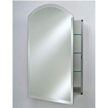 Afina Frameless Bevel Glass Arch Top Medicine Cabinets