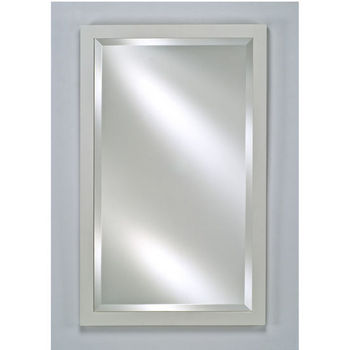 Afina Estate Collection Wall Mirror Contemporary 16 W X 22 H Satin White