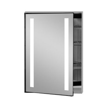 Afina Illume Collection Rectangle Backlit LED Medicine Cabinets w/Inside Electrical Sockets, Hinged Left, 24'' W x 4'' D x 30'' H