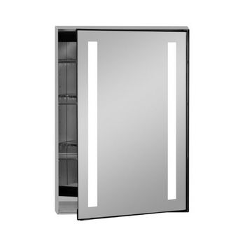 Afina Illume Collection Rectangle Backlit Led Medicine Cabinets W Inside Electrical Sockets Hinged Right 24 X 4