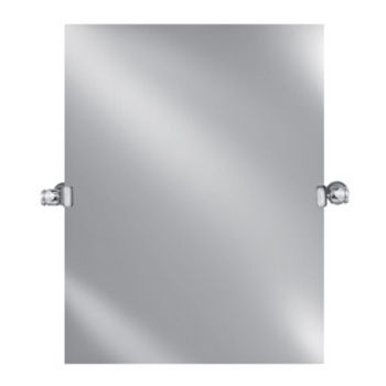 """Afina Radiance Collection Rectangular Polished Edge 1"""" Frameless Wall Mirror with Decorative Transitional Tilt Brackets, Sold as Pair"""