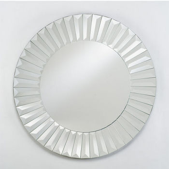Afina Round Contemporary Venetian Wall Mirror