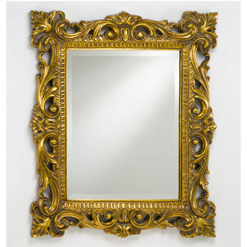 Afina Rectangular Timeless Traditional Wall Mounted Mirror