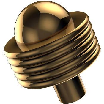 Groovy Polished Brass