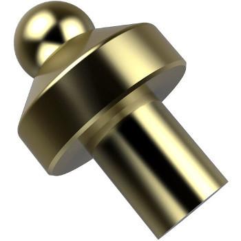 """Allied Brass Designer 1"""" Cabinet Knob, Premium Finish, Satin Brass"""