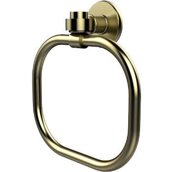 Allied Brass Continental Collection Towel Ring, Premium Finish, Satin Brass