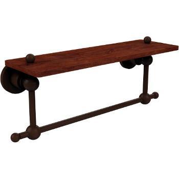 16'' Hardware Shelf with Towel Bar, Antique Bronze