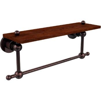 16'' Hardware Shelf with Towel Bar, Antique Copper