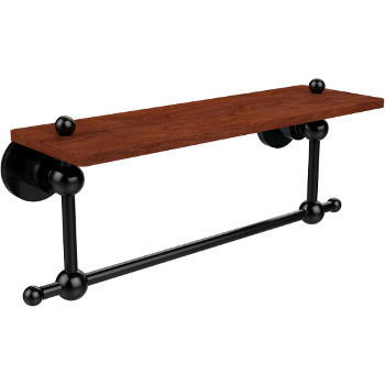 16'' Hardware Shelf with Towel Bar, Oil Rubbed Bronze