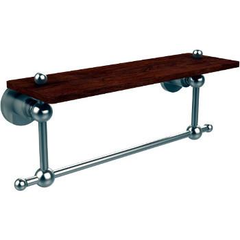 16'' Hardware Shelf with Towel Bar, Satin Nickel