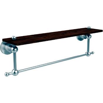 22'' Hardware Shelf with Towel Bar, Satin Chrome