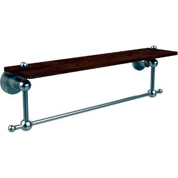 22'' Hardware Shelf with Towel Bar, Satin Nickel