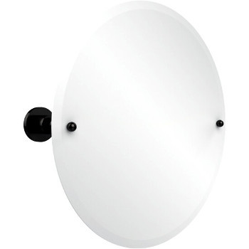 Circular Mirror with Oil Rubbed Bronze Hardware
