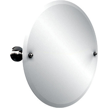 Circular Mirror with Polished Chrome Hardware