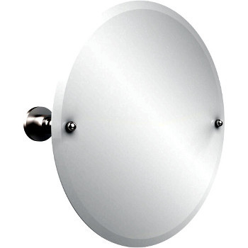 Circular Mirror with Satin Chrome Hardware