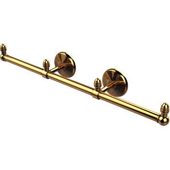 Three Arm, Polished Brass, Towel Holder