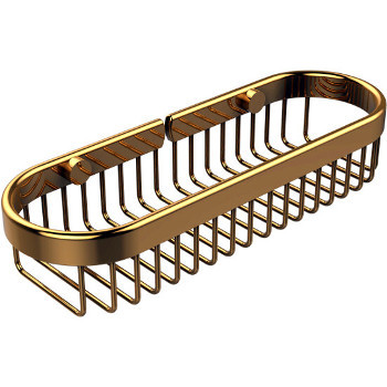 Large Polished Brass Basket