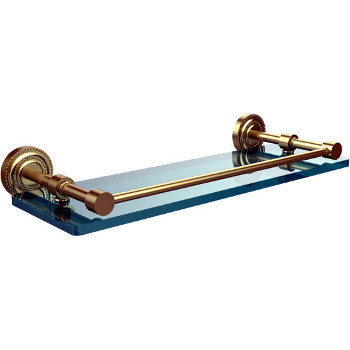 16'' Satin Brass Shelving