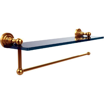 16'' with Paper Towel Holder, Polished Brass