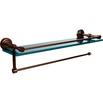 16'' Brushed Bronze Shelving with Paper Towel Roll Holder
