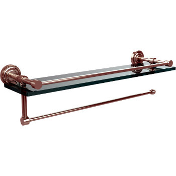 16'' Polished Nickel Shelving with Paper Towel Roll Holder