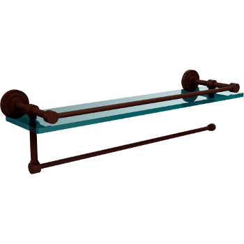 22'' Antique Bronze Shelving with Paper Towel Roll Holder