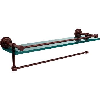 22'' Antique Copper Shelving with Paper Towel Roll Holder