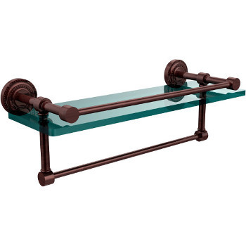 16'' Antique Copper Shelving with Towel Bar
