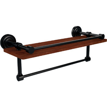 16'' Oil Rubbed Bronze Shelving with Towel Bar