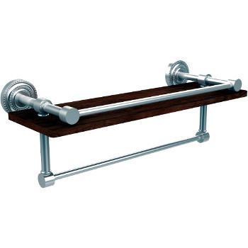 16'' Satin Chrome Shelving with Towel Bar