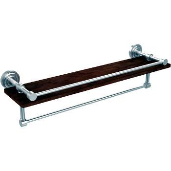 22'' Satin Chrome Shelving with Towel Bar