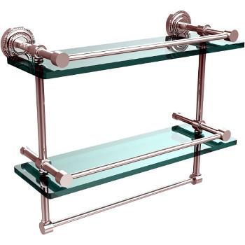 16'' Polished Chrome Shelving With Towel Bar