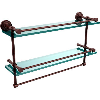 22'' Antique Copper Shelving With Towel Bar