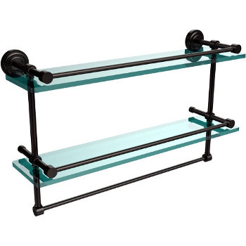 22'' Oil Rubbed Bronze Shelving With Towel Bar
