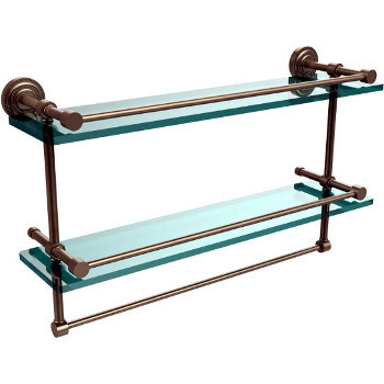 22'' Pewter Shelving With Towel Bar