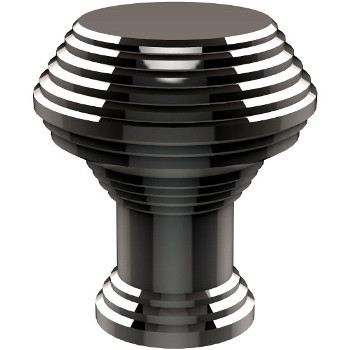 Allied Brass E 1 Series Designer Cabinet Knobs Collection 1u0027u0027 Diameter  Round Grooved Cabinet Knob In Polished Chrome.