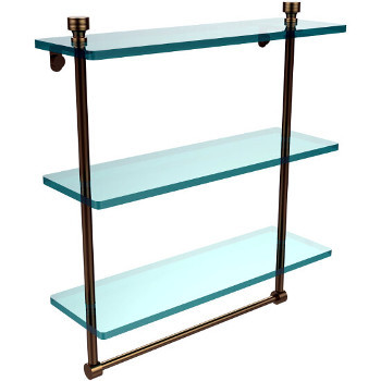 16'' Brushed Bronze with Towel Bar