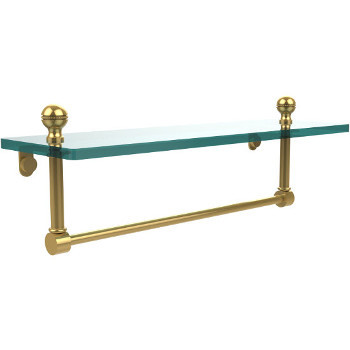 16'' Polished Brass with Towel Bar