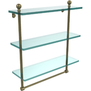 16'' Antique Brass with Towel Bar