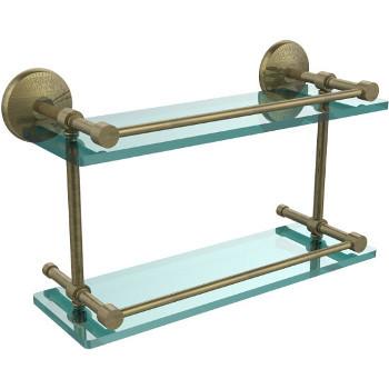16'' Antique Brass Hardware Shelf
