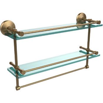 22'' Brushed Bronze Hardware Shelf with Towel Bar
