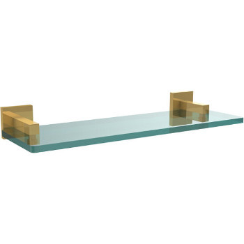 16'' Unlacquered Brass Hardware Shelf