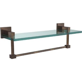 16'' Venetian Bronze Hardware Shelf with Towel Bar